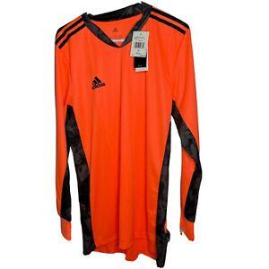 Adidas AdiPro 20 Bright Orange Black Long Sleeve Soccer Jersey Shirt Size L New