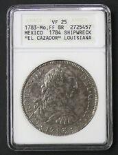 1783 El Cazador Shipwreck VF-25 ANACS Mo FF Mexico Mint Silver 8 Reales
