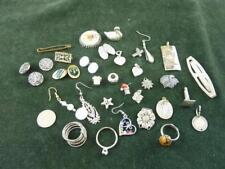 vintage small job 34 pieces of interesting  jewellery pendants cufflinks rings