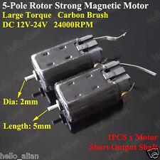 DC 12V-24V High Speed Large Torque Carbon Brush 5-Pole Rotor Motor For Car Boat