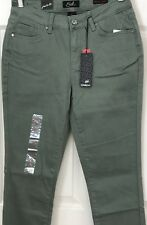 Earl Jeans Skinny Ankle Jeans Agave Green Women's  Sz 10 Cotton/Spandex