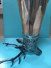 Tiffany & Co. sterling silver stag head stirrup cup 1966 German vintage rare