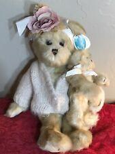 "New Listing16"" Bearington Bears Rose & Anna #1473 Jointed Stuffed Teddy Bears Retired 2004"