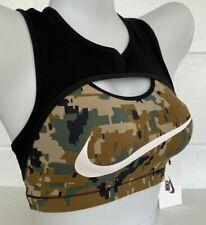 NEW Nike SPORTS BRA Swoosh CAMO black Womens XS NWT Workout RUN Yoga Exercise