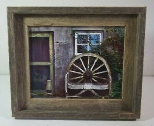 8x10 Weathered Barn Board Rustic Picture Photo Frame Excellent Condition
