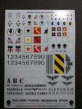 Warhammer 40k Imperial Guard / Astra Militarum Transfer Sheet Bits