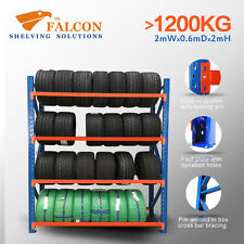 Garage Storage Warehouse Tyre Racks Stand Shelf Shelving Racking,2mWx0.6mDx2mH S
