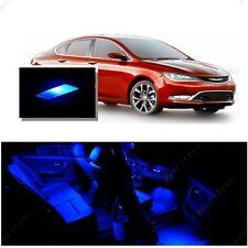 For Chrysler 200 2015-2016 Blue LED Interior Kit + Blue License Light LED