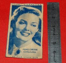 CINEMA 1947 TURF CIGARETTES CARD FILM STARS 49 JANIS CARTER HOLLYWOOD ACTRICE