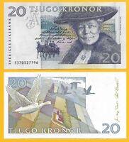 Sweden 20 Kronor p-61b 1995 UNC Banknote