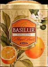 Basilur Ceylon Black Tea with Tangerine & Orange flowers. gift tin, fruity
