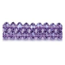 Violet Czech Crystal Glass Faceted Rondelle Beads 6 x 8mm 70+  Pcs DIY Jewellery