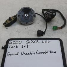 97-00 Suzuki Gsxr600 Oem Ignition Lock Key Set W/ Gas Cap And Seat Lock