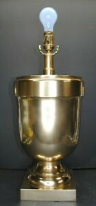 VINTAGE VISUAL COMFORT & CO. HEAVY BRASS ACORN / URN SHAPED TABLE LAMP