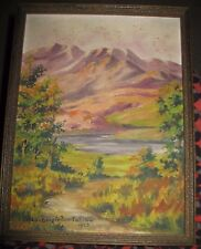 Signed Original Lou Singleton Tobin Ayers 1928 Big Bend National Park Landscape