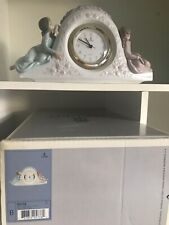 More details for lladro two sisters clock ornament figurine rare 05776