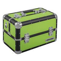 anndora Beauty Case 21 L Aluminium schwarz Grün Kosmetikkoffer Schmuckkoffer