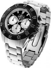 New Mens Invicta 22396 Speedway Chronograph Black Dial Steel Bracelet Watch