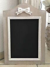 Kreidetafel 44x30 Holz Memoboard Shabby beige weiß schwarz Memotafel schleifen