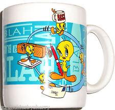 Looney Tunes Tweety Coffee Mug Cup Break Sylvester 1996 Retired