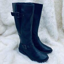 NEW Born BOC Women's Austin Riding Boots Knee High Leather Full Zip Black US 8.5