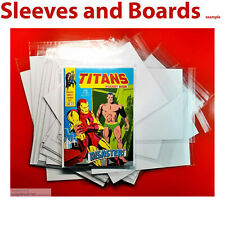 More details for pocket book titans size comic bags and backing sheets size1 x 25  .