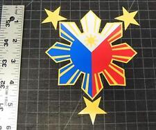 """6"""" Filipino Pride Star Sun Sticker Die Cut Decal Style #1 Philippines Pilipinas"""