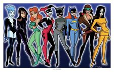 Girls of Gotham Limited Edition Convention Poster Art Print- Batman Harley Quinn