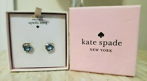 KATE SPADE New York BRIGHT IDEAS Sapphire Faceted Stud Earrings NEW