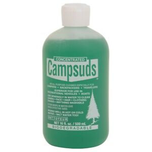 Campsuds Biodegradable All Purpose Camping Soap 16 oz Bottle