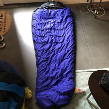 "The North Face Purple Black Snowshoe Polarguard 3D Mummy Sleeping Bag 80"" X 31"""