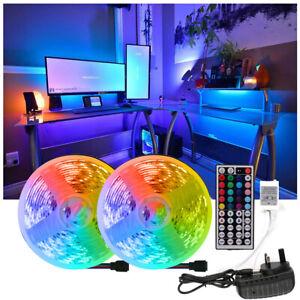 LED Strip Lights 5M 10M 20M RGB Color Changing Tape Cabinet Kitchen TV Back Lamp