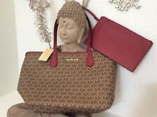 Michael Kors 2 Pieces Large Reversible Tote Signature Coated Canvas Mk Saffiano