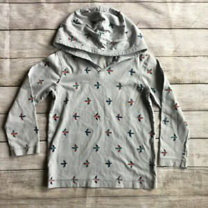 Tea Collection Gray Hooded Shirt Size 4/5