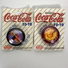 2 Coca Cola Yo Yo 1997 Sun & Ice Cold Vintage Coke Duncan Bottle Always Cool NIP
