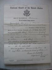 1939 US Military Discharge Certificate for John A Stroud National Guard WWII era