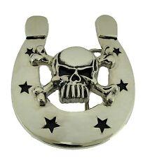 Horseshoe Belt Buckle Skull Skeleton Men Women Fashion Metal Large Western Rodeo