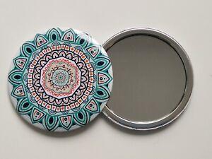 Mandala Taschenspiegel Shanti rund 1-fach Schminkspiegel, Makeup-Spiegel