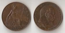 New ListingUk Great Britain one penny 1908 Edward Vii