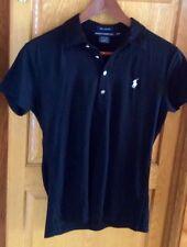 Ralph Lauren Golf Shirt Woman M Black Polo New