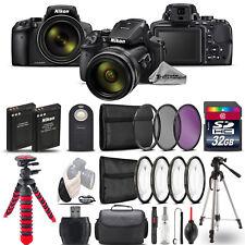 Nikon COOLPIX P900 Digital Camera + DSLR & Spider Tripod  + EXT BAT - 32GB Kit