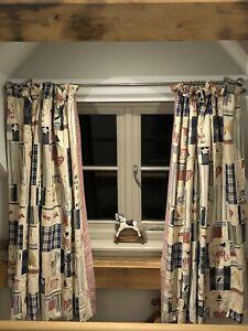 Jane Churchill Vintage Fabric Patchwork Children's Interlined Curtains