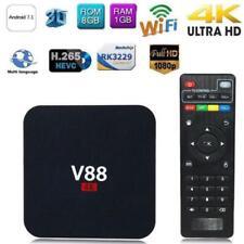 V88 4K BOX Android 7.1 Smart RK3229 Quad Core HD WiFi Media Player CHW UK