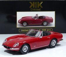 Ferrari 275 GTB/4 NART Spyder 1967 red Speichenräder KK-Scale 1:18 Neu