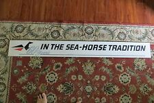 old vtg 60 years  IN THE SEAHORSE TRADITION ADVERTISING MARINA DEALER WOOD SIGN