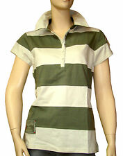 CHIPIE Polo rayures beige vert femme taille 4 = taille 40 42