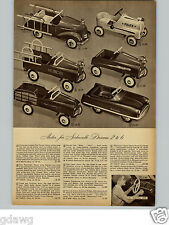 1950 PAPER AD Pedal Cars Fire Truck Kiddilac Car Police Velocipede Chief Town