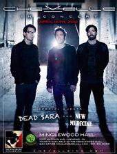 "CHEVELLE / DEAD SARA / NEW MEDICINE ""IN CONCERT"" 2012 MEMPHIS TOUR POSTER"
