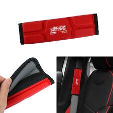 MUGEN Leather Memory foam Car Seat Belt Covers Shoulder Pads Cushion For HONDA