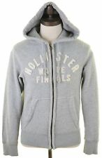 HOLLISTER Mens Hoodie Sweater Small Grey ff Cotton  FF01